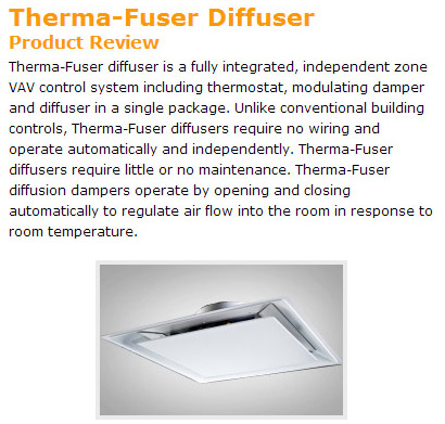 Therma-Fuser VAV Diffuser Product Review